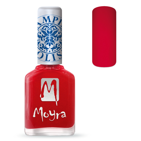 Nail Expert Moyra Stamping lak 02 Červený