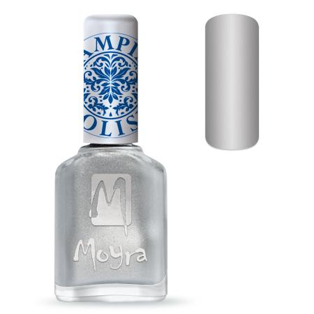 Nail Expert Moyra Stamping lak 08 Sříbrný