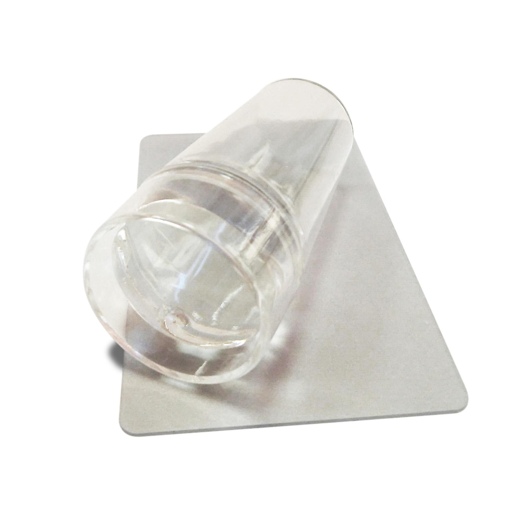 Nail Expert Průhledné razítko se škrabkou velké ø 3,8cm