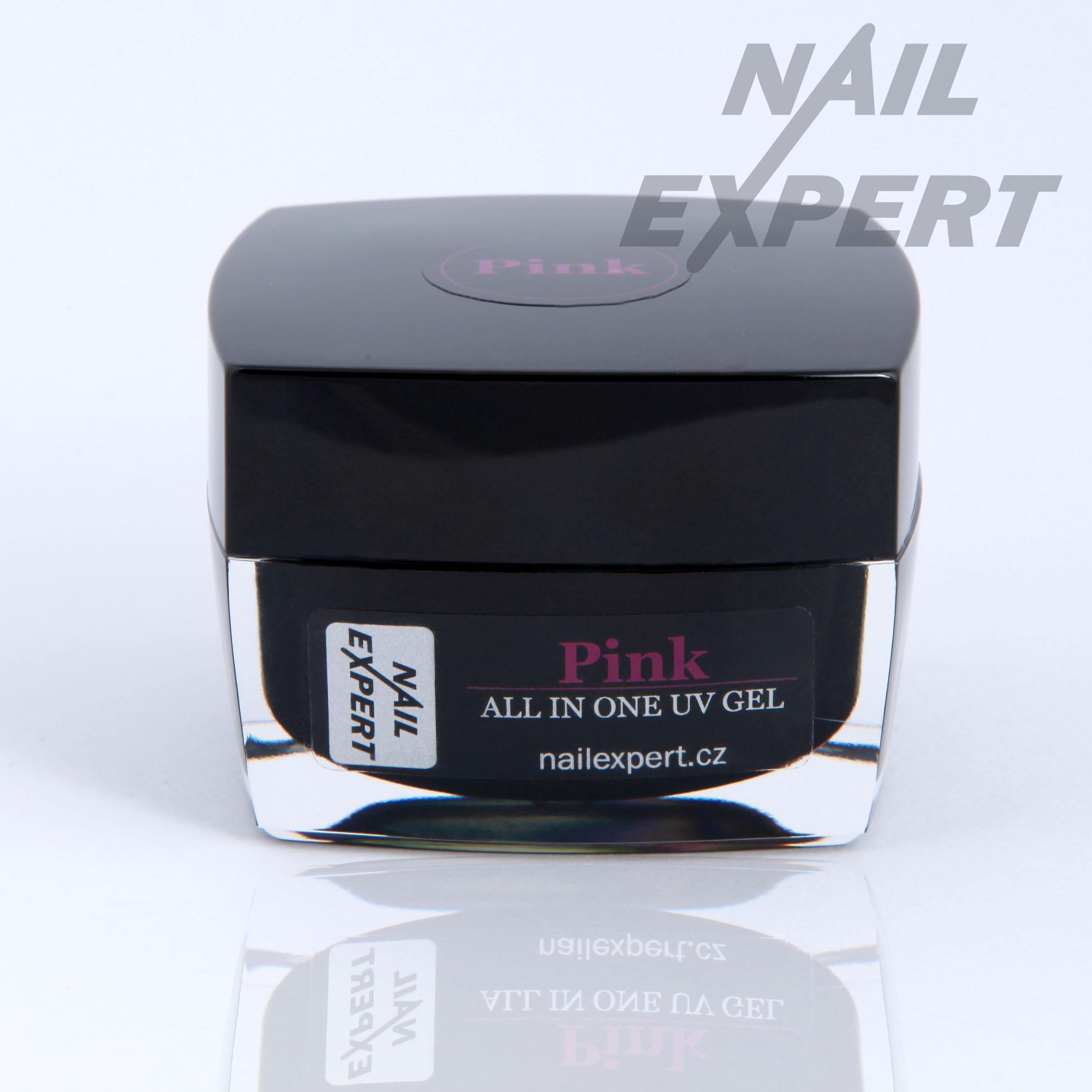Nail Expert PINK jednofázový UV gel 100ml